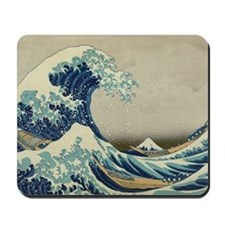 Vintage Japanese Art, The Great Wave by Mousepad