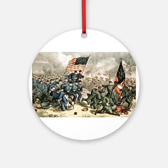 The second battle of Bull Run - 1862 Round Ornamen