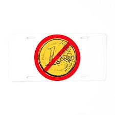 No Euro Aluminum License Plate