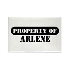 Property of Arlene Rectangle Magnet