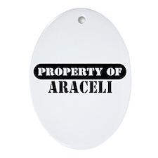 Property of Araceli Oval Ornament