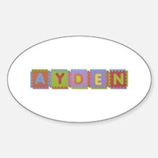 Ayden Foam Squares Oval Decal