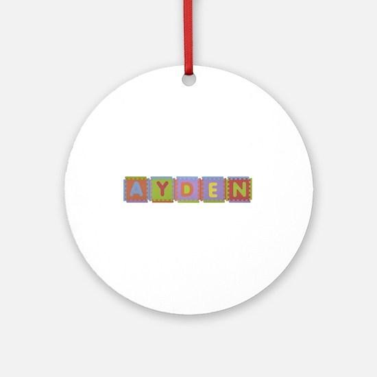 Ayden Foam Squares Round Ornament
