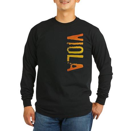 Viola Stamp Long Sleeve Dark T-Shirt