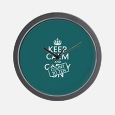 Keep Calm and Count To Ten Wall Clock