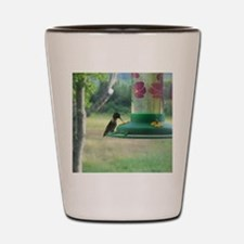 Ruby Neck Hummingbird Shot Glass