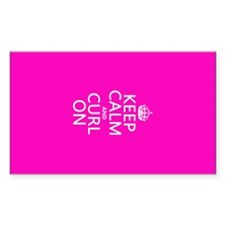 Keep Calm and Curl On Decal