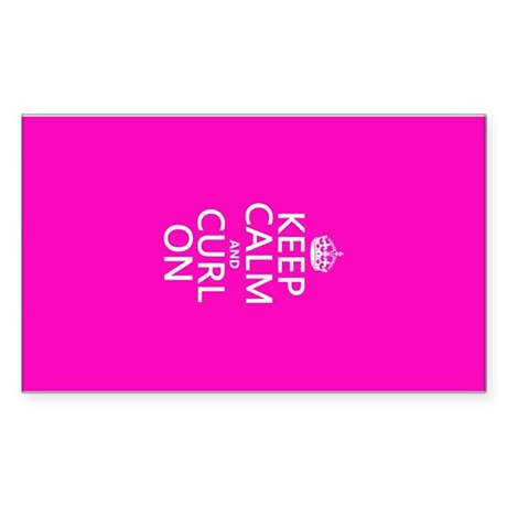 Keep Calm and Curl On Sticker