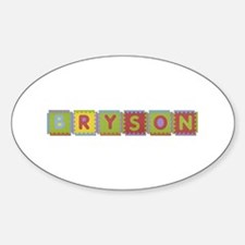 Bryson Foam Squares Oval Decal