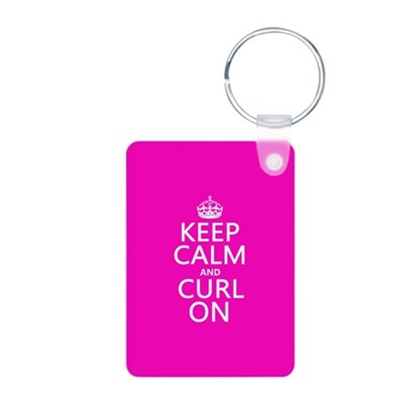 Keep Calm and Curl On Keychains