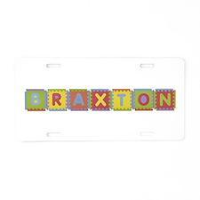 Braxton Foam Squares Aluminum License Plate