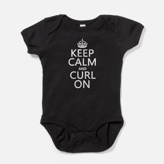 Keep Calm and Curl On Baby Bodysuit