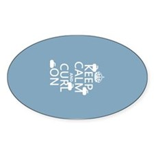Keep Calm and Curl On (curling) Decal