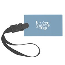 Keep Calm and Curl On (curling) Luggage Tag