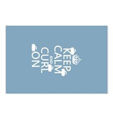 Keep Calm and Curl On (curling) Postcards (Package