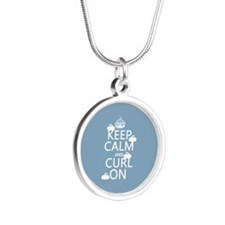 Keep Calm and Curl On (curling) Necklaces