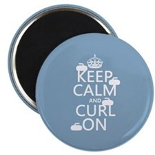 Keep Calm and Curl On (curling) Magnet