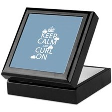 Keep Calm and Curl On (curling) Keepsake Box