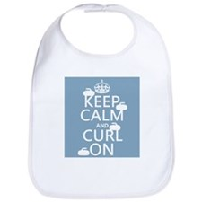 Keep Calm and Curl On (curling) Bib