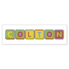 Colton Foam Squares Bumper Bumper Sticker