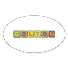 Colton Foam Squares Oval Decal