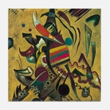 Points by Kandinsky, Abstract Art Tile Coaster