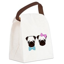 Pugs and Bows Canvas Lunch Bag