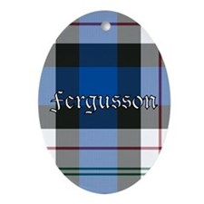 Tartan - Fergusson dress Ornament (Oval)