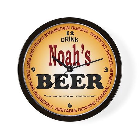 Beer Wall Clock Noah