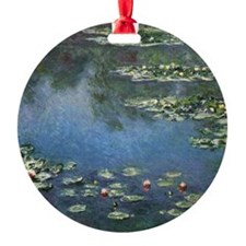 Water Lilies by Claude Monet Round Ornament