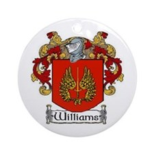 Williams Coat of Arms Ornament (Round)