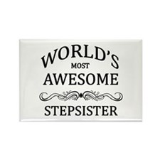 World's Most Awesome Stepsister Rectangle Magnet