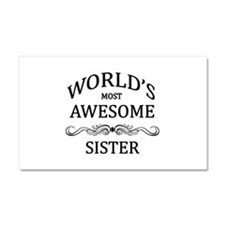 World's Most Awesome Sister Car Magnet 20 x 12