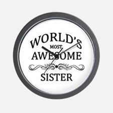 World's Most Awesome Sister Wall Clock