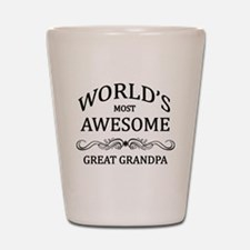 World's Most Awesome Great Grandpa Shot Glass