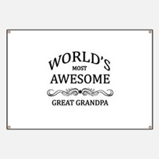 World's Most Awesome Great Grandpa Banner