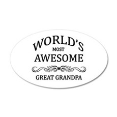 World's Most Awesome Great Grandpa Wall Decal
