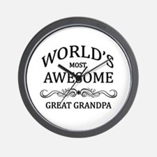 World's Most Awesome Great Grandpa Wall Clock