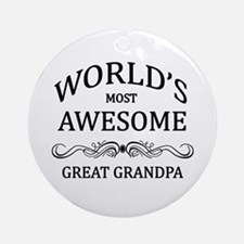 World's Most Awesome Great Grandpa Ornament (Round
