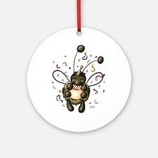 Hap-Bee Birthday Ornament (Round)