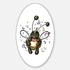 Hap-Bee Birthday Oval Decal