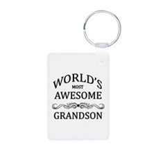 World's Most Awesome Grandson Keychains