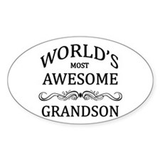 World's Most Awesome Grandson Decal