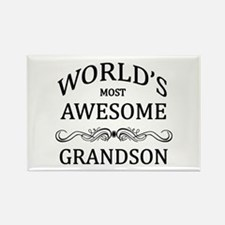 World's Most Awesome Grandson Rectangle Magnet