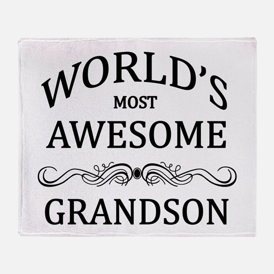 World's Most Awesome Grandson Throw Blanket