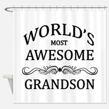 World's Most Awesome Grandson Shower Curtain