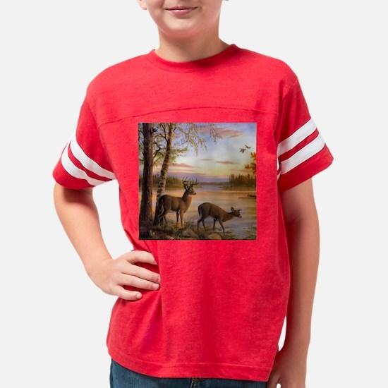 Deer Scene Youth Football Shirt