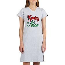 Christmas Naughty or Nice Carto Women's Nightshirt