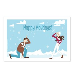 "Postcard ""Happy Holidays"" (Set of 8)"