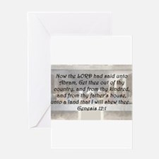 Genesis 12:1 Greeting Card